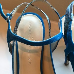 Ivanka Trump Shoes - Ivanka Trump Blue Suede Heels